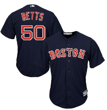 cad36e05c49 Men s Boston Red Sox Mookie Betts Majestic Navy Cool Base Player Jersey
